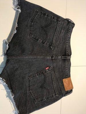 Levi's Pantalón corto de tela vaquera gris oscuro