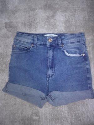 Mango Denim Shorts dark blue