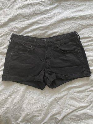 Mango Pantalón corto de tela vaquera negro
