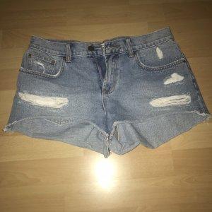 Billabong Jeansowe szorty błękitny-chabrowy