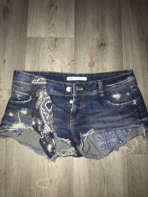 Zara Trafaluc Hot Pants dark blue