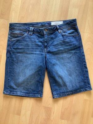edc Denim Shorts dark blue