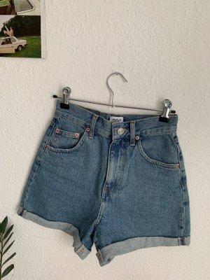 BDG Pantaloncino a vita alta grigio ardesia-blu acciaio