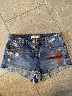 Mango Jeans Hot pants grigio ardesia