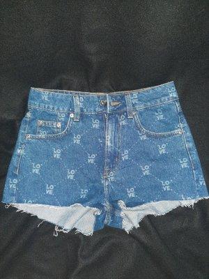 H&M Pantaloncino di jeans blu Cotone