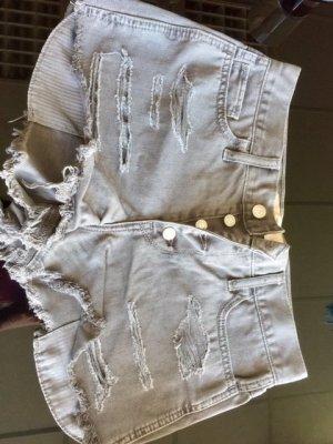 Jeans Shorts Grau Damen W28 (Hollister)