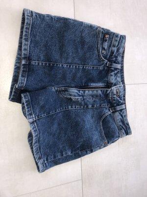 Clockhouse Pantaloncino di jeans blu-blu acciaio