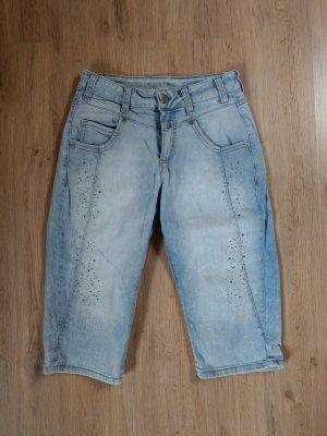 Jeans Shorts Hose blau Steinchen liberty