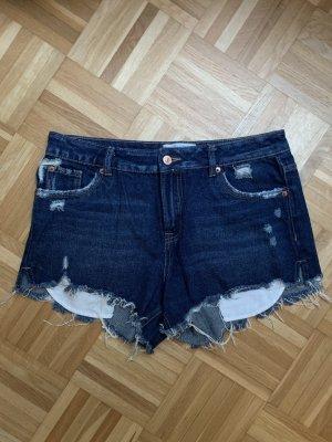 New Look Shorts dark blue-blue cotton