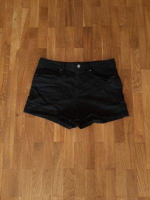 Jeans Shorts kurze Hose schwarz 38 M United Colors of Benetton Hotpants
