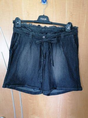 Gina Pantaloncino di jeans antracite