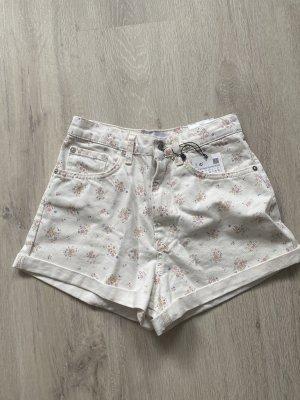 Jeans Shorts mit Blumenmuster
