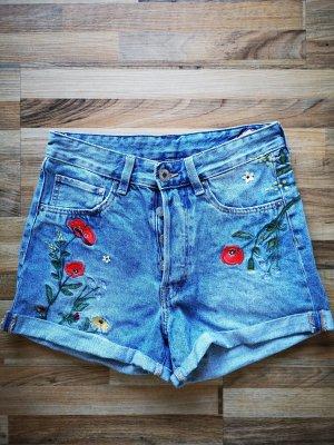 Jeans shorts mit Stickerei