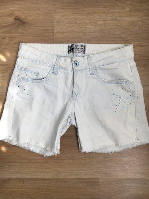 Jeans Shorts mit Strasssteinen