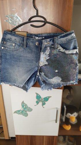 Takko Pantaloncino di jeans multicolore