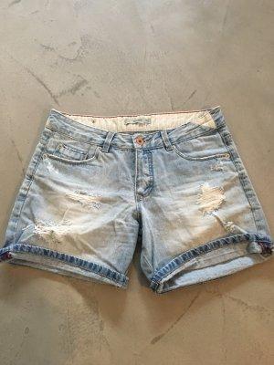 Pull & Bear Jeansowe szorty jasnoniebieski
