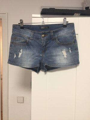 Only Pantaloncino di jeans blu acciaio
