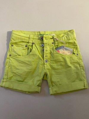 Please Pantaloncino di jeans verde chiaro-verde prato