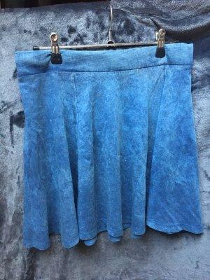 H&M Skaterska spódnica chabrowy-stalowy niebieski