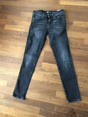 7 For All Mankind Jeans skinny gris anthracite