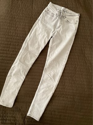 Acne Jeans skinny gris clair