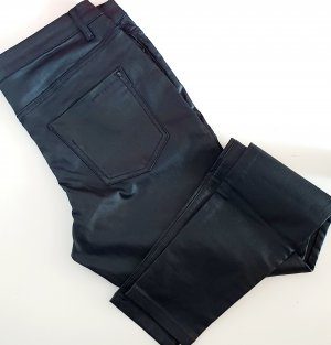 Jeans Skinny Fit schwarz Gr 40 42 Kunstleder Optik