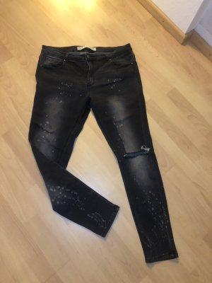 Jeans Skinny grau used optik Gr. 42