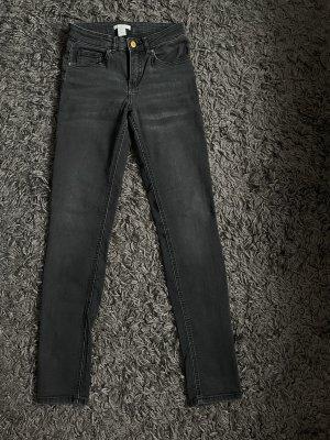 Jeans Skinny High waist Schwarz grau H&M XS