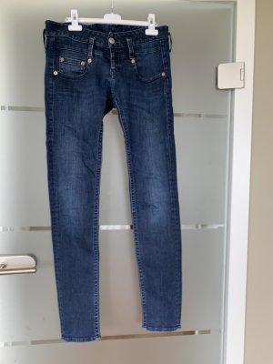 Herrlicher Low Rise Jeans dark blue
