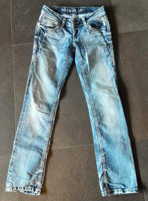 Soccx Jeans a gamba dritta azzurro