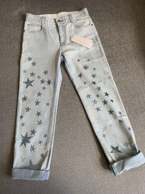 Stella McCartney Jeans a gamba dritta azzurro