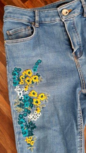 Jeans Stickerei Massimo Dutti XS
