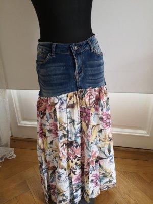 aus Italien Denim Skirt multicolored