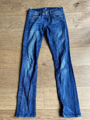 7 For All Mankind Straight Leg Jeans steel blue