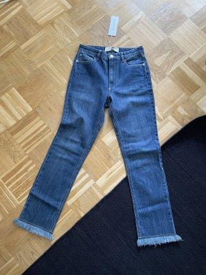 Each & Other Straight Leg Jeans blue-cornflower blue