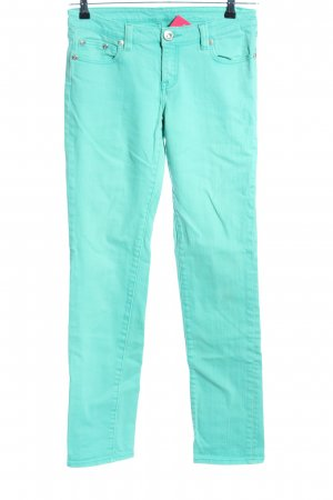 Jeans Straight-Leg Jeans türkis Casual-Look