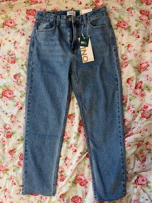 Jeans straight Leg-light blue denim