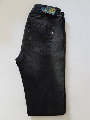 Replay Jeansy z prostymi nogawkami czarny-antracyt Bawełna