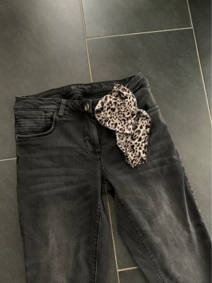 Betty Barclay Jeans da motociclista antracite-nero