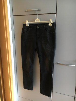Street One Jeansy z prostymi nogawkami antracyt