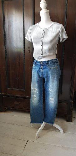Le Temps des Cerises Jeans a 7/8 blu-blu acciaio Cotone