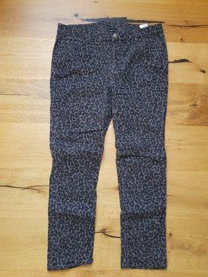 Janina Jeans elasticizzati nero-grigio Cotone