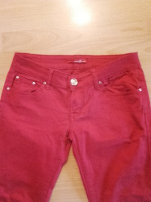 Jeggings red cotton