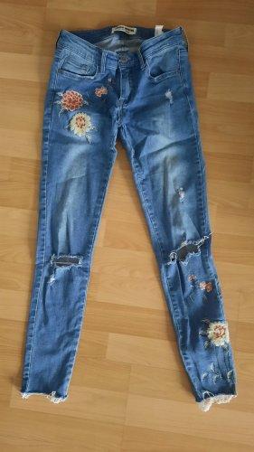 Jeans stretch mit Blumen