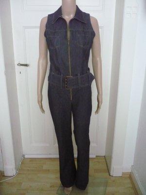 Jeans Stretch Overall / Jumpsuit mit Gürtel