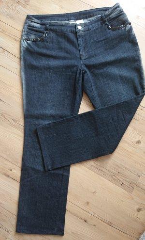 Jeans sw/silber/grau Gr 46