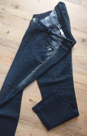 Basic Line Straight Leg Jeans multicolored