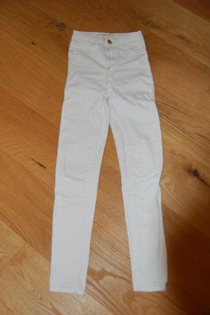 Tally Weijl Jeans a vita alta bianco-oro Tessuto misto