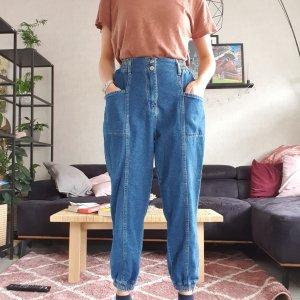 Defacto Pantalon large bleu