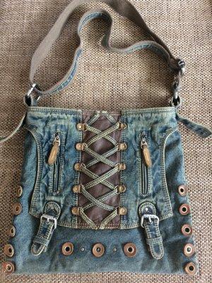 Jeans Tasche mit Leder Deko